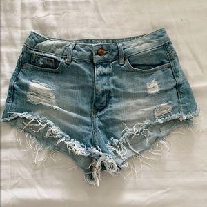 H&M Light Wash Shorts